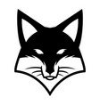 fox face logo icon vector image vector image