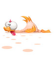 funny cute crazy cartoon character duck vector image