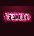 Glamour pink background with glitters Shining vector image vector image