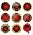 gold and red medal collection vector image vector image