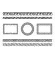 greek frame borders ancient native roman or vector image vector image