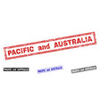 grunge pacific and australia textured rectangle vector image vector image