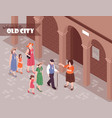 guide excursion isometric vector image