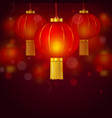 happy chinese new year 2020 red greeting card vector image vector image