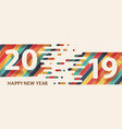 happy new year 2019 text design vector image vector image