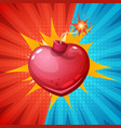heartbomb on the halftone background vector image