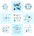 Honeycomb and circular bauhaus abstract geometric vector image vector image