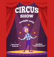 invitation poster for circus show or magicians vector image