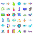 media technology icons set cartoon style vector image vector image