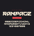 modern heavy display font named rampage vector image vector image