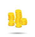 money icon on white background coins in flat vector image