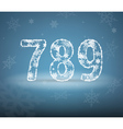 Numbers made from snowflakes vector image