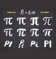 pi symbols hand drawn icons set grunge vector image vector image