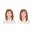 portrait upset young woman woman with damaged vector image vector image
