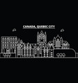 quebec city silhouette skyline canada - quebec vector image vector image