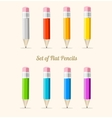 rainbow pencil set flat vector image vector image