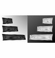 realistic different sizes black and white flags vector image vector image