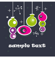 retro decorations vector image vector image