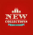 retro new collections poster vector image