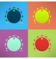 Set of bright volume knobs for player in modern vector image