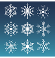 Set of snowflakes winter icon vector image