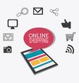 Shopping design vector image vector image