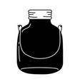 silhouette small mason glass with wire handle vector image vector image