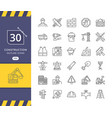 simple set construction related icons vector image