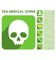 Skull Icon and Medical Longshadow Icon Set vector image vector image