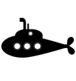 submarine icon on white vector image