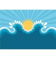 symbol wavesblue nature seascape for design vector image