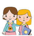 teacher with student to class education lesson vector image vector image