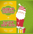 this is a christmas background with santa claus vector image