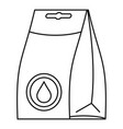 washing detergent icon outline style vector image vector image