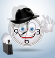 Watch smile ready for a new working day vector image vector image