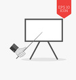 Whiteboard presentation concept icon Flat design vector image