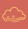 wind and cloud icon in flat style isolated on vector image vector image