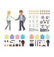 cartoon business man and woman vector image