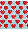 seamless heart polka dot blue vector image