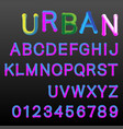 3d gradient colors alphabet font template vector image vector image