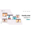 arab children parents and grandparents discussing vector image vector image
