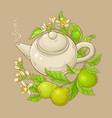 bergamot tea vector image vector image