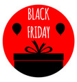 black friday sale poster banner vector image vector image