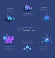 blockchain and cryptocurrency concept vector image vector image
