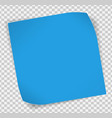 Blue paper sticker over transparent background vector image