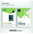 brochure cover design templates with tablet vector image vector image