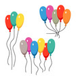 bunches of several colour helium balloons vector image