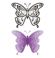 Butterflies outline and lilac vector | Price: 1 Credit (USD $1)