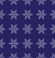 Christmas seamless pattern from snowflakes Blue vector image vector image