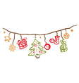 Christmas xmas decoration vector image vector image